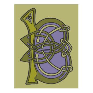 Celtic Knot letter initial monogram B Postcard