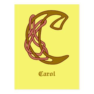 Celtic Knot letter initial monogram C Postcard