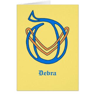 Celtic Knot letter initial monogram D Card