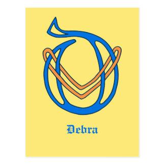 Celtic Knot letter initial monogram D Postcard