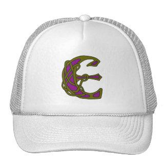 Celtic Knot letter initial monogram E Trucker Hat
