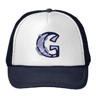 Celtic Knot letter initial monogram G Trucker Hat