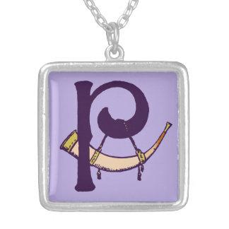 Celtic Knot letter initial monogram P Necklaces
