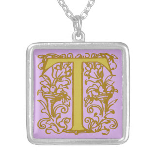 Celtic Knot letter initial monogram T Jewelry