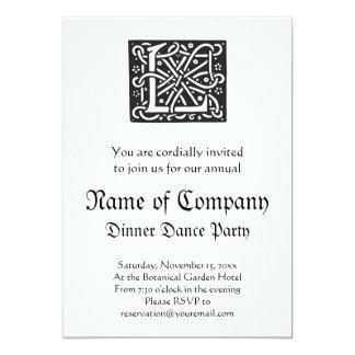 Celtic Knot Letter L Monogram Card