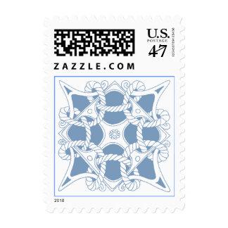 Celtic Knot Mariner Ocean Blue Sailing Sea Stamps