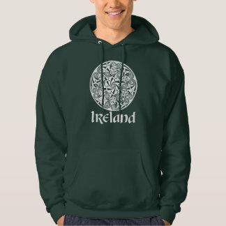 Celtic Knot Medallion Round Design, Irish Artwork Hoodie