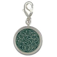 Celtic Knot Medallion Round Design, Irish Artwork Photo Charm