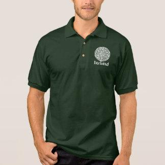 Celtic Knot Medallion Round Design, Irish Artwork Polo Shirt