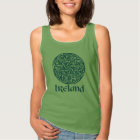 Celtic Knot Medallion Round Design, Irish Artwork Tank Top