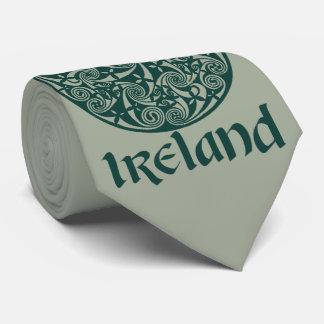 Celtic Knot Medallion Round Design, Irish Artwork Tie