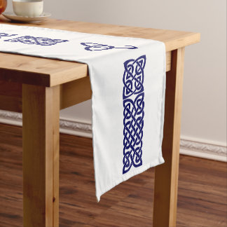 Celtic Knot navy blue small table runner