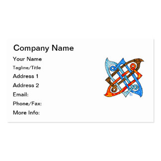 Celtic Knot of the Elements-Earth,Air,Fire,Water Double-Sided Standard Business Cards (Pack Of 100)