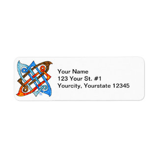 Celtic Knot of the Elements-Earth,Air,Fire,Water Custom Return Address Label