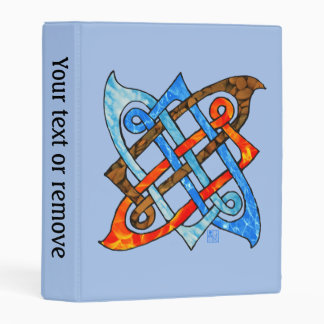 Celtic Knot of the Elements - Earth Air Fire Water Mini Binder
