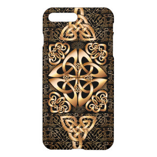 Celtic Knot on black iPhone 7 Plus Case