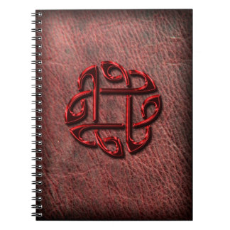 Celtic knot on genuine leather notebook