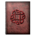Celtic knot on genuine leather spiral notebooks