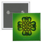 Celtic Knot on green glow Button