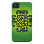 Celtic Knot on green glow Case-Mate iPhone 4 Cases