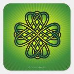 Celtic Knot on green glow Sticker