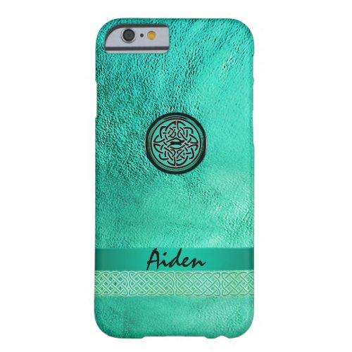 Celtic Knot on Irish Green Leather iPhone 6 Case