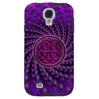 Celtic Knot on Royal Fractal Swirl Galaxy S4 Case