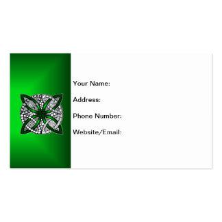 Celtic Knot Original Art Green Business Card