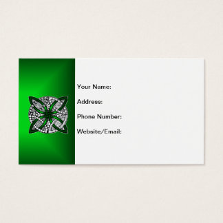 Celtic Knot Original Art Green Business Card