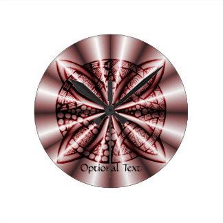 Celtic Knot Original Unique Red Round Clock