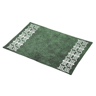 Celtic Knot over Green Granite Placemat