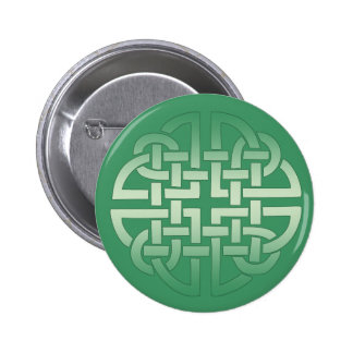 Celtic Knot Pattern on editable background color 2 Inch Round Button