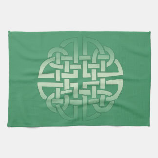 Celtic Knot Pattern on editable background colour Hand Towels