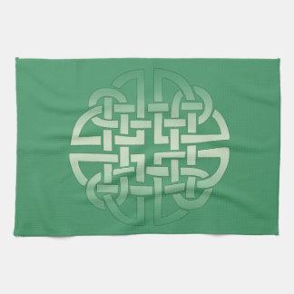 Celtic Knot Pattern on editable background colour Kitchen Towel