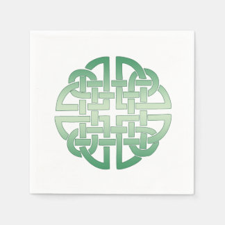 Celtic Knot Pattern on editable background colour Napkin