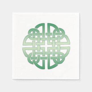 Celtic Knot Pattern on editable background colour Napkin