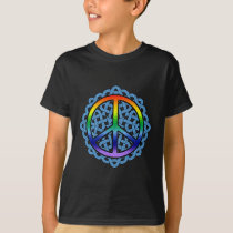 Celtic Knot Peace Kids' Dark Shirts