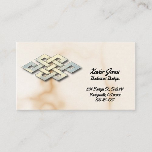 Celtic knot personalized business card