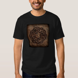Celtic knot pressed on leather t shirt