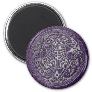 Celtic Knot Purple Birds & Silver-Fridge Magnet