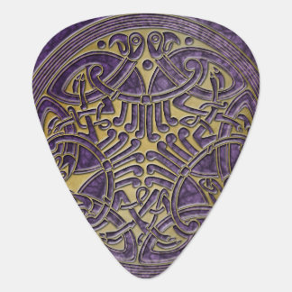 Celtic Knot Purple & Gold Birds -Guitar Pic Guitar Pick