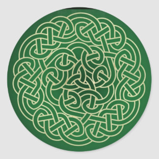 Celtic Knot - Put your Irish on Round Sticker