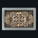 "Celtic Knot Rectangular Belt Buckle<br><div class=""desc"">Stylized Celtic shield knot pattern on the Case. Pattern will be great for St. Patrick's Day. Men's Fashion Gifts.</div>"