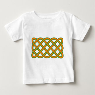 Celtic knot rectangular Green and Orange Baby T-Shirt
