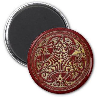 Celtic Knot Red Birds & Gold-Fridge Magnet
