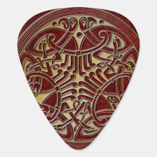 Celtic Knot Red & Gold Birds -Guitar Pic Guitar Pick