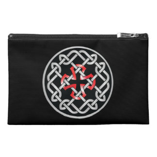 Celtic Knot Red Metallic Accessory Bag