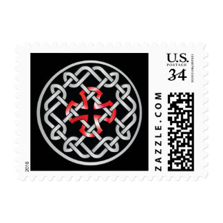 Celtic Knot Red Metallic Postage