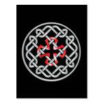 Celtic Knot Red Metallic Postcard