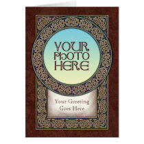 Celtic Knot Ring Photo Frame Greeting Card